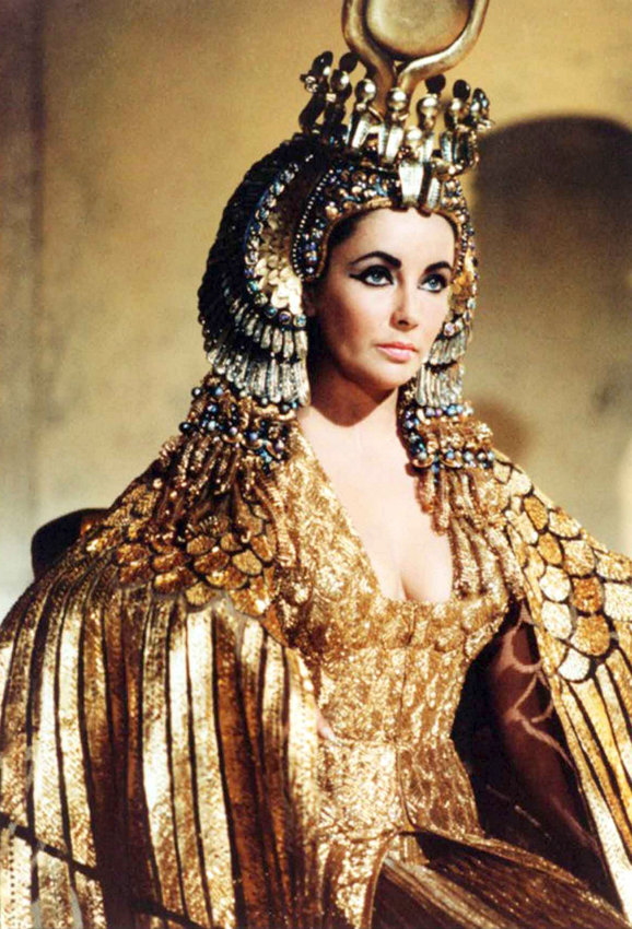 Elizabeth Taylor as Cleopatra in the 1963 epic drama film directed by Joseph L. Mankiewicz.