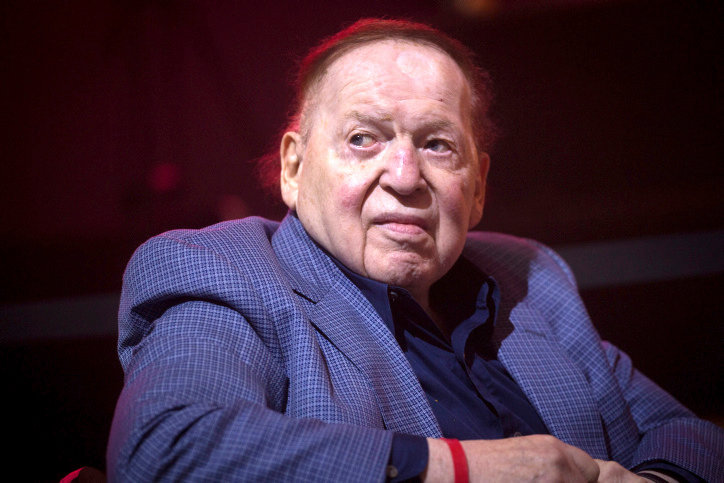 Sheldon Adelson attends an American Independence Day celebration at Avenue in Airport City, on July 3, 2018.