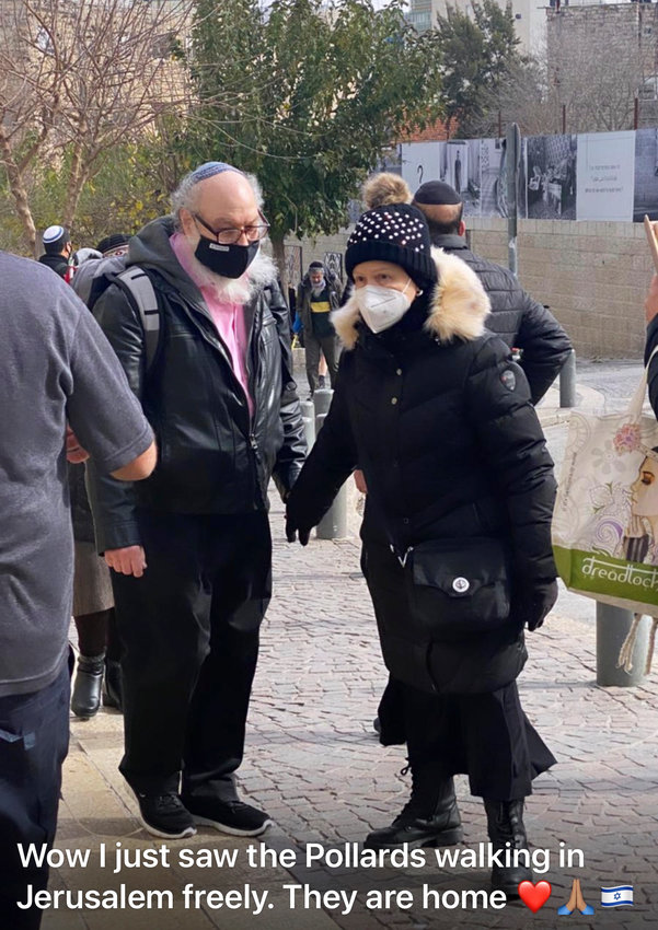 Our photographer spotted Jonathan and Esther Pollard as they strolled holding hands on Agripas St. in Jerusalem, near the Machane Yehuda shuk.
