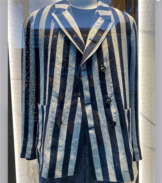 Georgio Armani pulled an item from sale that resembled prison uniforms worn in concentration camps.
