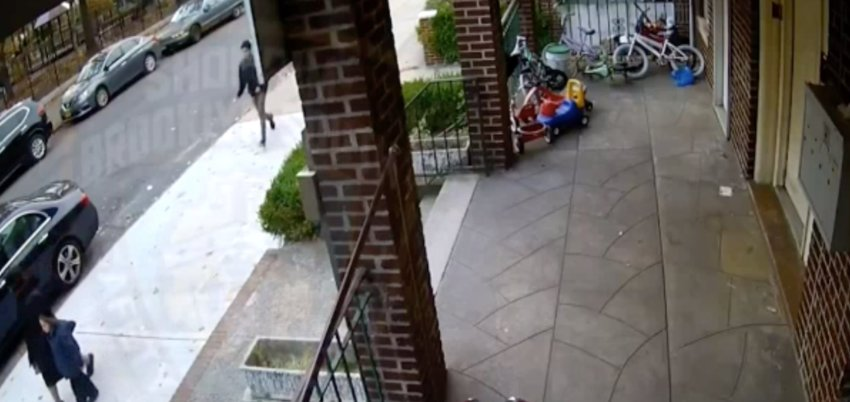 Teens were caught on video pelting eggs on a mother and a child in what was an anti-Semitic hate crime in Brooklyn on Nov. 9, 2019.