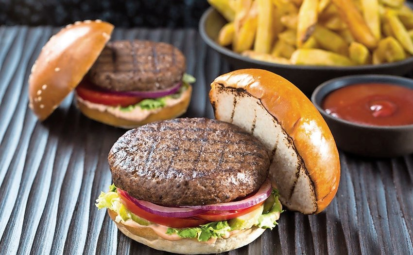 """These """"parinted"""" burgers — not quite as fast to prepare as a meal from Star Trek's replicator — are vegan."""