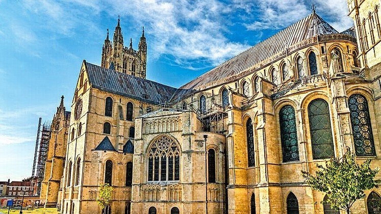 Canterbury Cathedral, UNESCO world heritage in Kent, England.