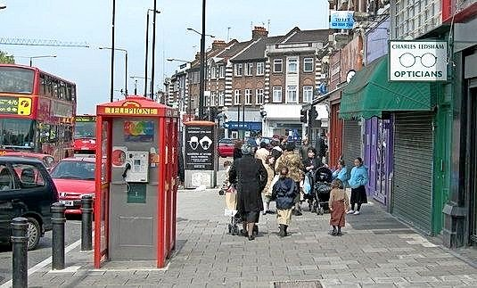 Stamford Hill, a predominantly Orthodox-Jewish neighborhood in London.