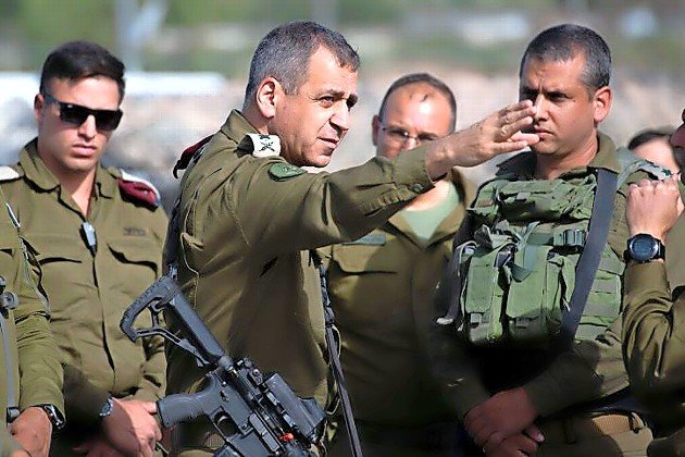IDF Chief of Staff Lt. Gen. Aviv Kochavi visits Tapuah Junction, south of Nablus, on May 3.