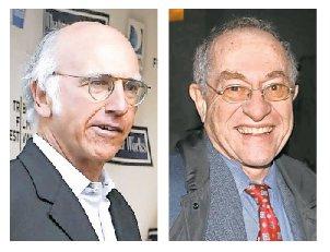 Larry David and Alan Dershowitz in 2009.