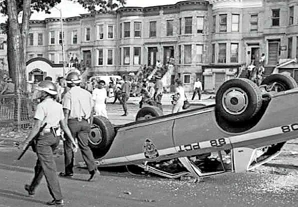Scene from three days of riots in the Crown Heights neighborhood of Brooklyn, Aug. 19 to 21, 1991.