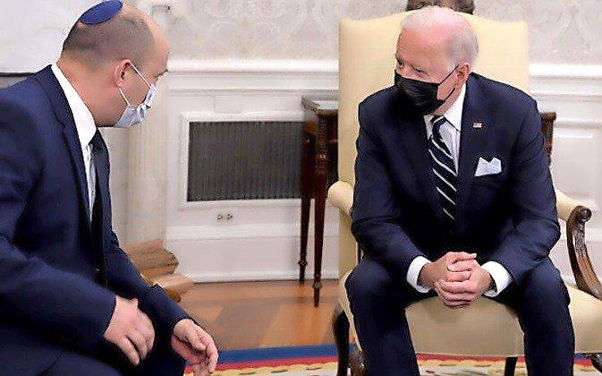 President Joe Biden meets with Israeli Prime Minister Naftali Bennett at the White House on Aug. 27.