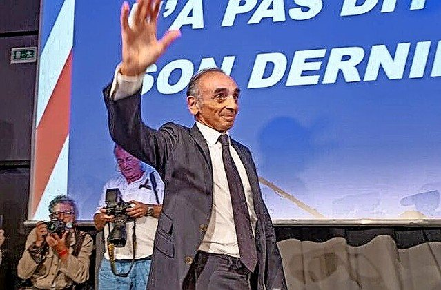 Eric Zemmour, French political journalist, writer, essayist, columnist and polemicist, in Nice to promote his latest book.