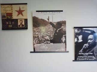 A wall in Jerry Joszef's office