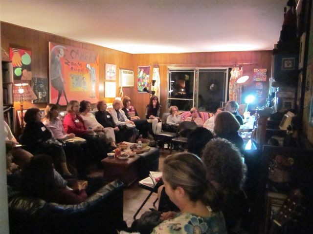 Devora group at it's November jewish book month program...Kenneth Wishnia author of The Fifth Servant was the speaker, Mira Rosenfeld Sennett, education vp and moderator.
