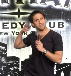Woodsburgh native Tyler Gildin at a recent comedy gig.