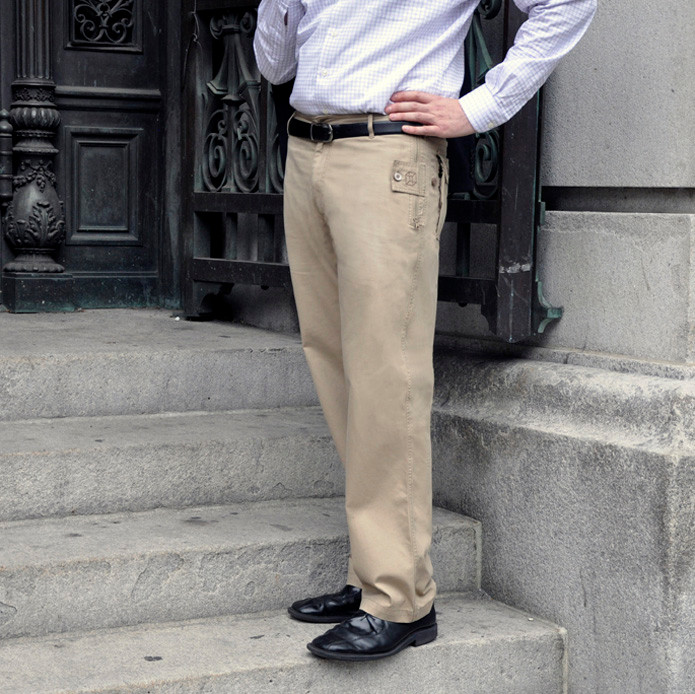 The Business-style Pick-Pocket Proof pants have a more streamlined look combined with the classic straight leg design.
