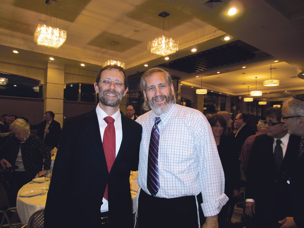 (left) MK Feiglin, Shmuel Sackett, International Director of Manhigut Yehudit
