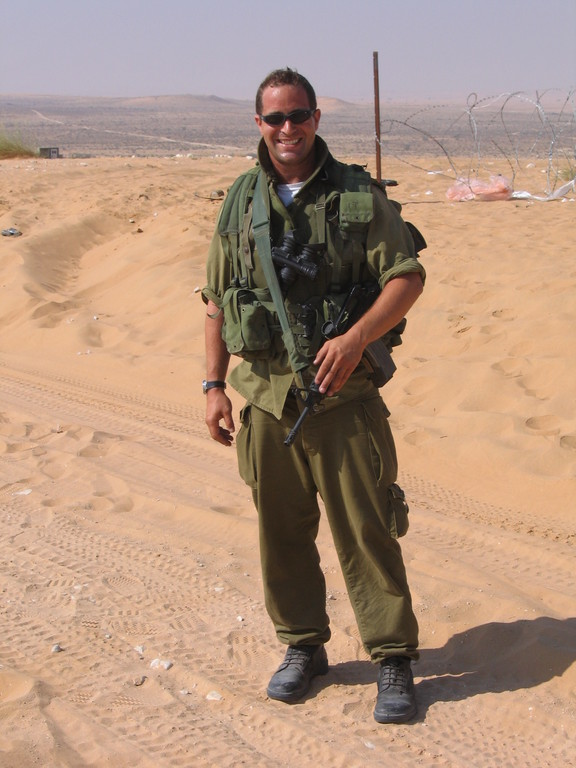 Tuvia Book while on reserve duty in Israel.