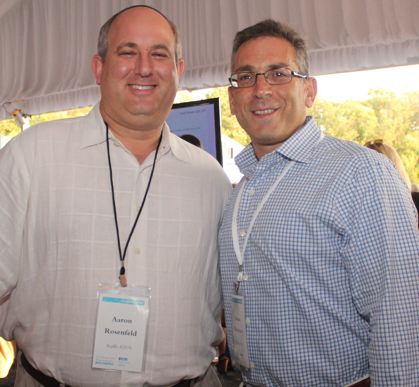 Aaron Rosenfeld and Joshua Wanderer of Tov B'Yachad, UJA-Federation's Orthodox community outreach.