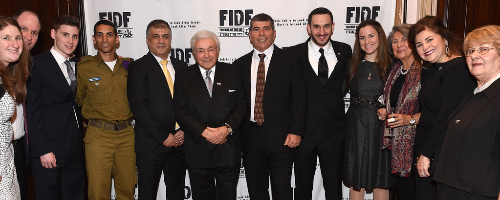 The Spector, Lefkovitz, and Jacobs families of Long Island with an IDF soldier and FIDF National Director and CEO Maj. Gen. (Res.) Meir Klifi-Amir.