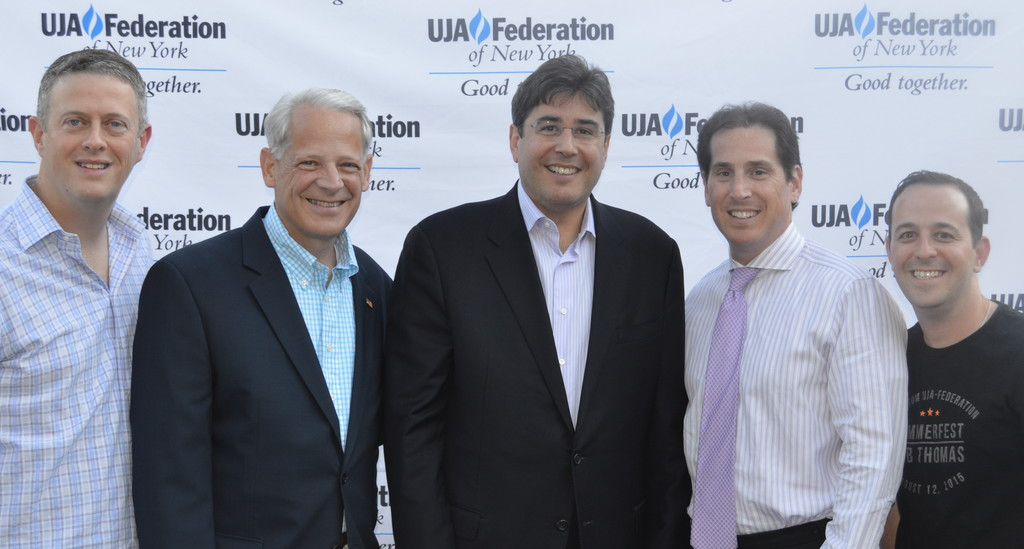 2014 Robert S. Boaz Award honoree Todd Richman, North Shore Rep. Steve Israel, UJA-Federation
