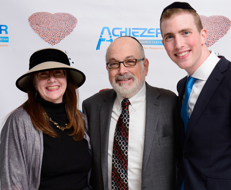 The Jewish Star Advertising Manager Celia Weintrob and Editor-Publisher Ed Weintrob, with Achiezer Development Coordinator Eli Weiss.