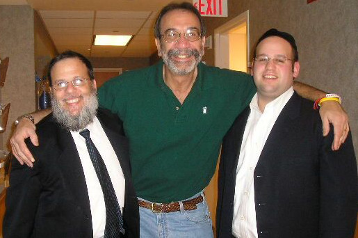 Rabbi Yehuda B. Kamenetzky and his father, Rabbi Mordechai Kamenetzky, with Dr. Henry Friedman, director of the Preston Rober Tisch Brain Tumor Center at Duke University. Friedman was featured on 60 Minutes in a story on Duke's breakthrough Polio virus Immunotherapy that has brought miraculous results to brain tumor victims.