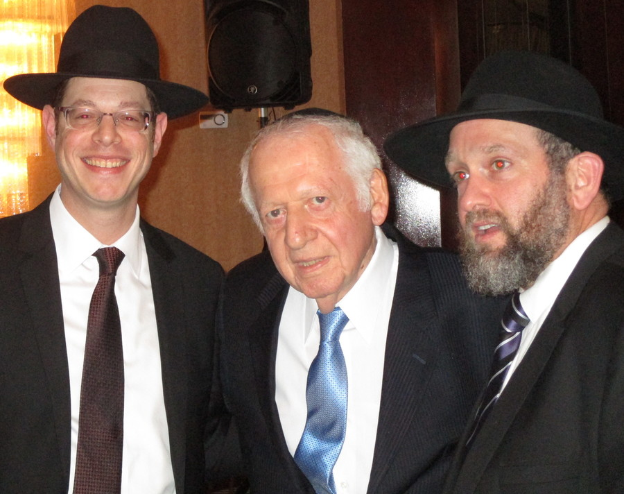 The three men who served the Young Israel of North Bellmore over its first 50 years, from left: Rabbi Chaim Bogopulsky, Rabbi Morris S. Gorelik, Rabbi Dov E. Schreier.