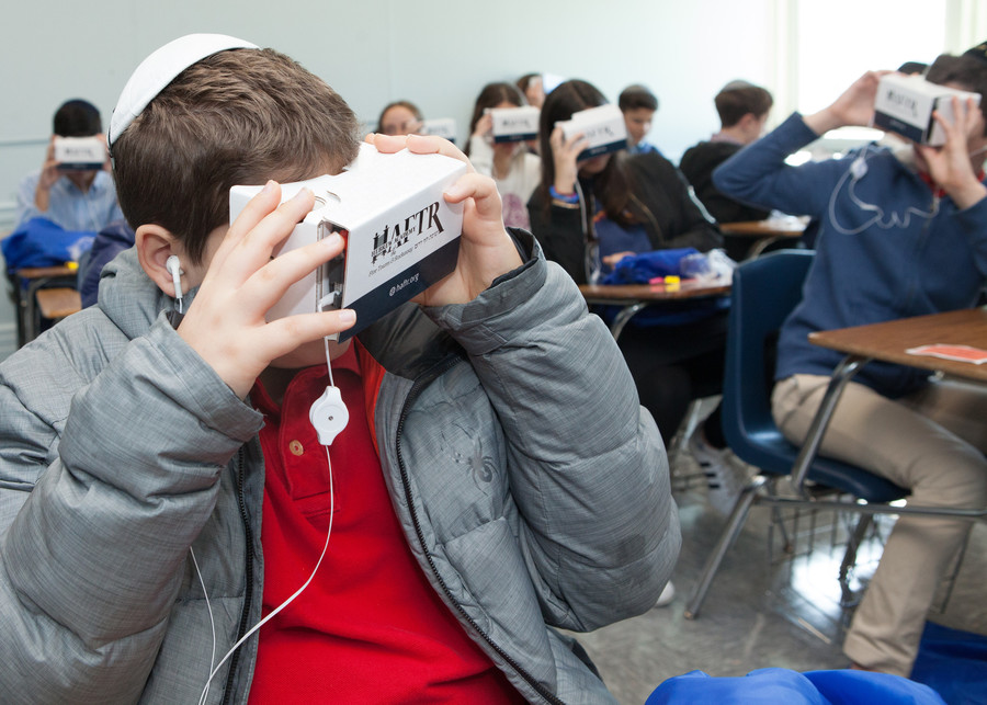 Students utilized virtual reality headsets to take a 360 tour of HAFTR.