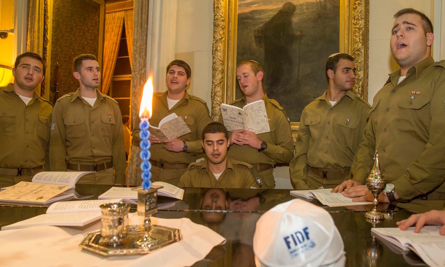 Havdalah at FIDF's leadership mission to Israel.
