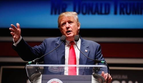 Donald Trump speaks at the South Carolina Freedom Summit on May 9, 2015.