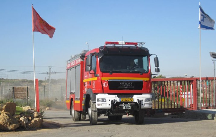 A fire truck contributed by the Young Israel of Woodmere is deployed in Israel during last week's arson fires. Now, the YIW is raising money to buy two more trucks.