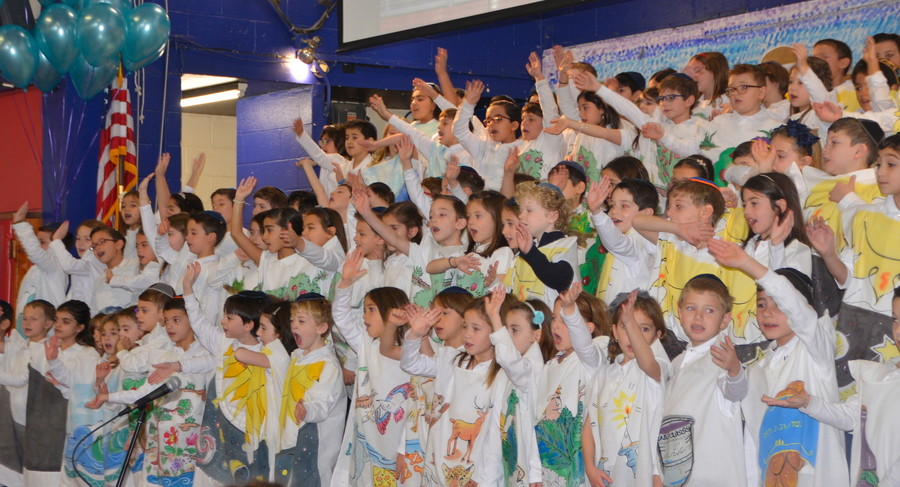 HAFTR students performed songs that highlighted their love of Torah.