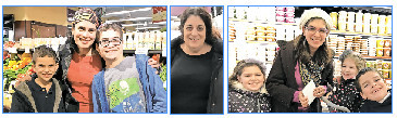 Winners of $500 shopping sprees at Seasons in Lawrence (from left): Naomi Ostrow of Woodmere, with Ethan, 9, and Matthew, 12; Ellen Bashan of West Hempstead; and Esther Lejbovitz of Far Rockaway, with Shaina, 8, Meira, 3, and Yaakov, 7.