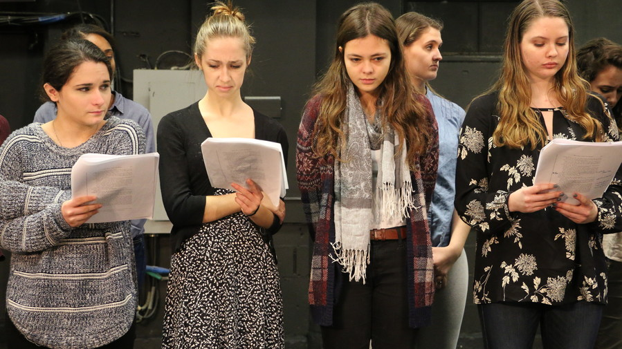 Wagner students performing (from left): Ruth Kupperberg, Mackenzie Hart, Anais Mazic and Genna Cypher.