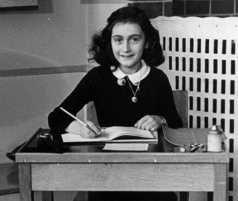 Anne Frank, in 1940 at Montessori School. A refugee, not a terrorist.