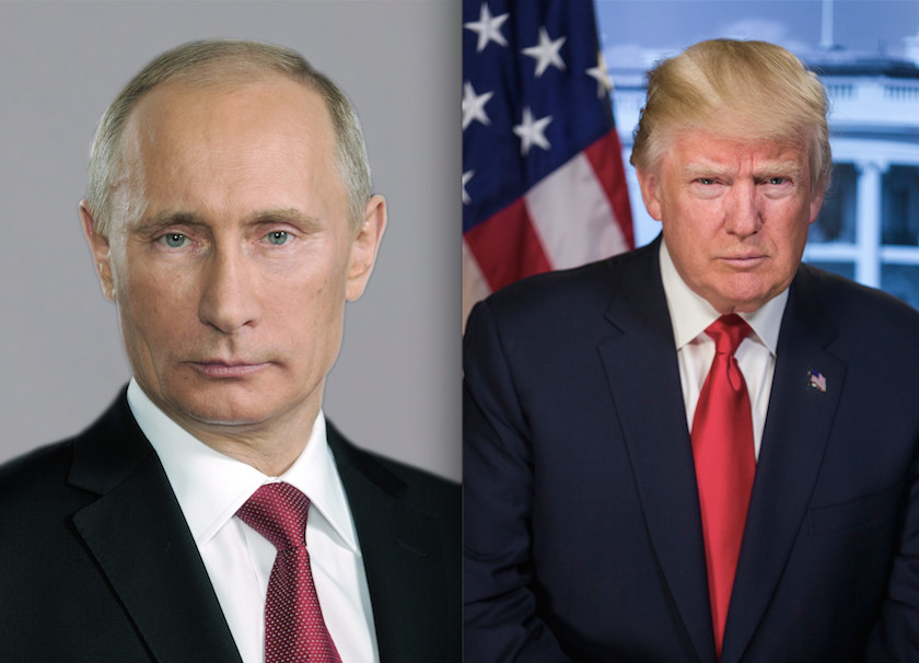 Russian President Vladimir Putin and President Donald Trump.