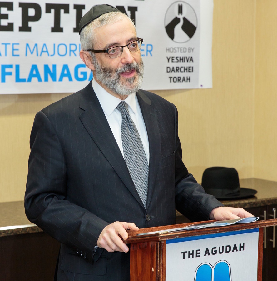 Agudath Israel Executive Vice President Rabbi Chaim Dovid Zwiebel.