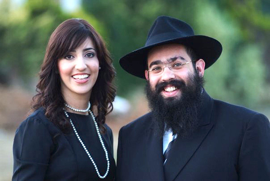 Rebbetzin Chana and Rabbi Ari Edelkopf in 2009 in Sochi, Russia.