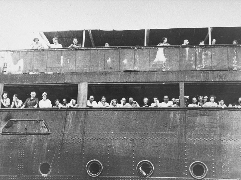 Jewish refugees stop at Cuba during their doomed aboard the St. Louis in 1939.