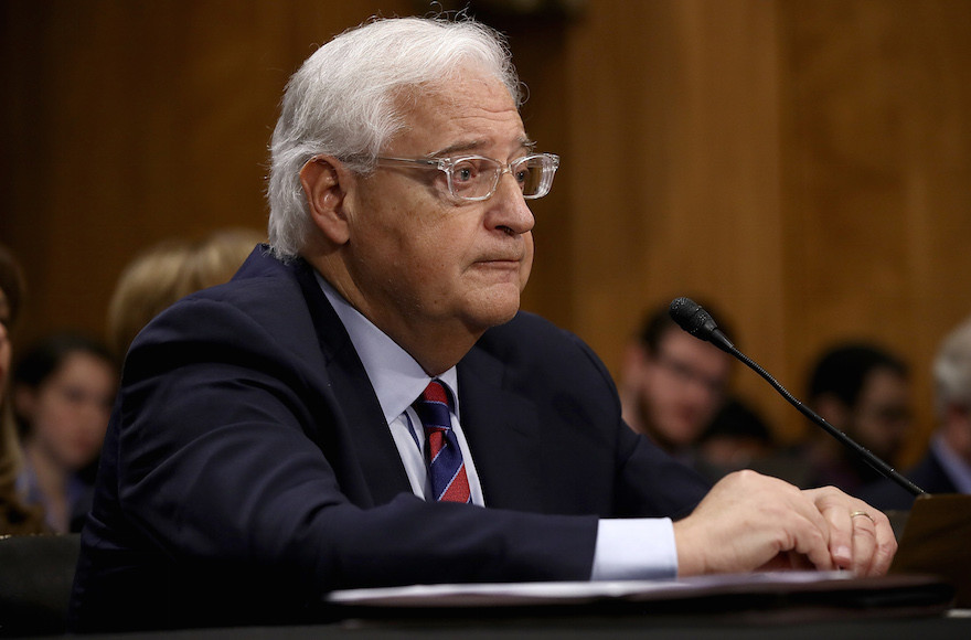 David Friedman testifying before the Senate Foreign Relations Committee on Thursday.