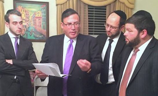 From left: Rabbi Moshe Rudich, Rabbi Zechariah Wallerstein, Rabbi Chananya Grinberg and Rabbi Dov Langer.