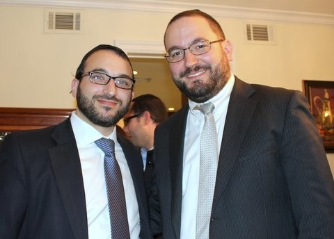 Rabbi Avrohom Fridman and Rabbi Nachum Dinowitz.