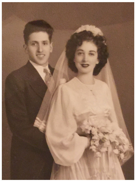 The author's parents on their wedding day.