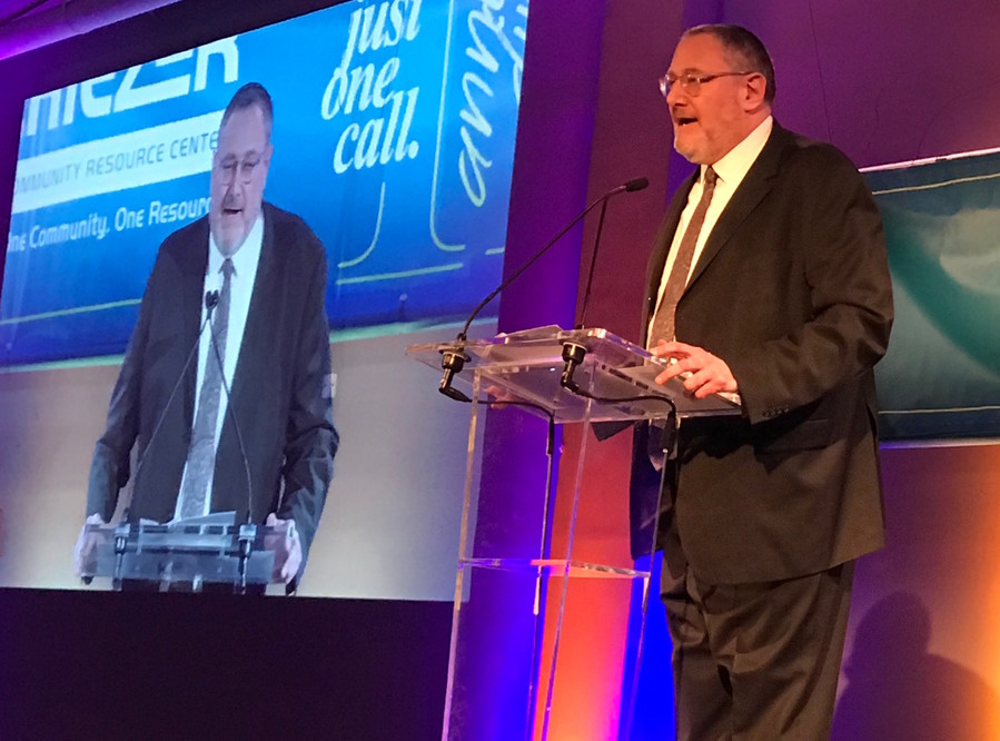 Nachum Segal, master of ceremonies of the Achiezer gala.