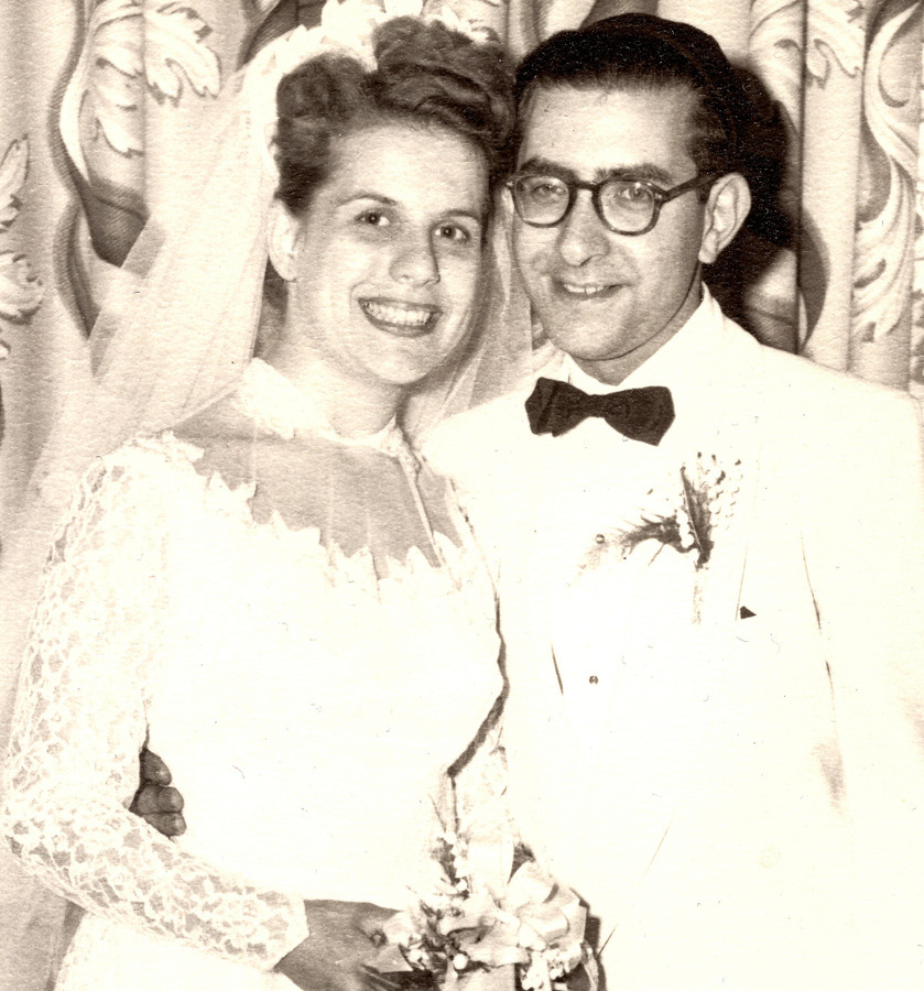 Max and Gloria Frankel at their wedding on Aug. 17, 1952.