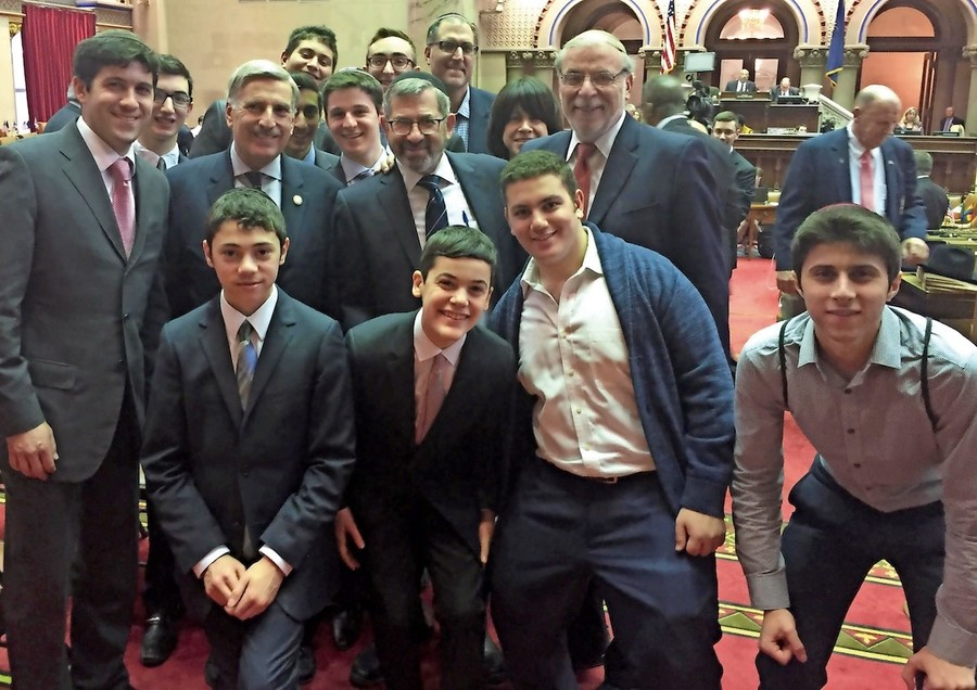 Students from Rambam Mesivta in Albany