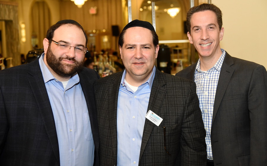 JCCRP Executive Director Nathan Krasnovsky, board member Louis Gibber, and former Far Rockaway Assemblymember Phil Goldfeder.