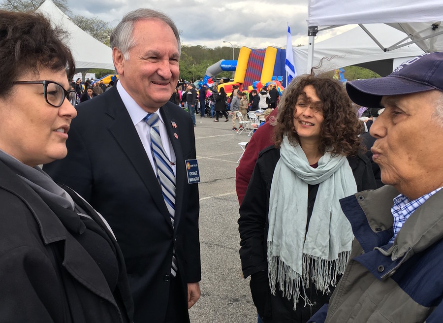 At Israelfest in Port Washington: Nassau Comptroller George Maragos, running for Nassau County Executive, made the rounds.