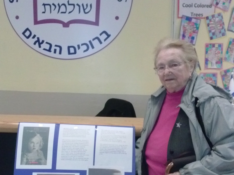 Shulamith Yom HaShoah: After the candles were lit, Elly Berkovits Gross shared memories of her childhood in Romania and relayed her experiences as a survivor of the Holocaust.