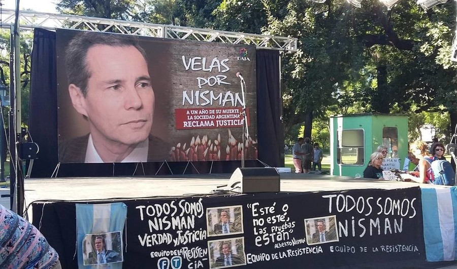 January 2016 Buenos Aires protest marks one-year anniversary of Alberto Nisman's death.