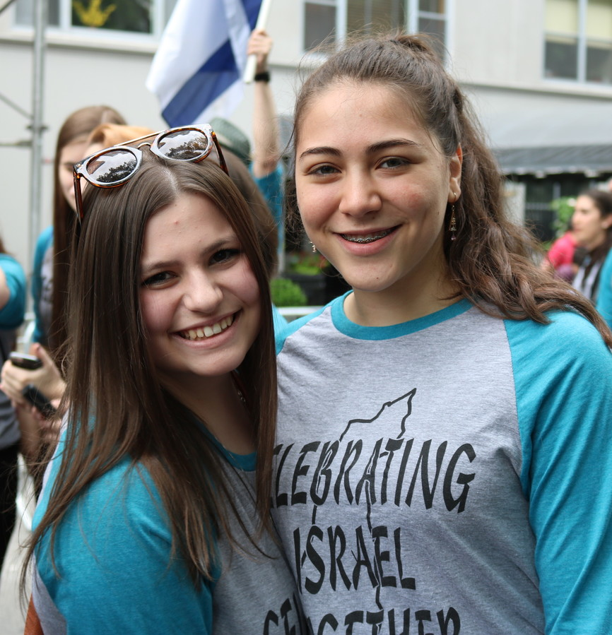 Two girls from the Midreshet Shalhevet High School for Girls.