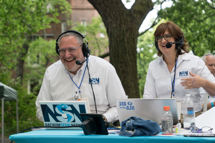 The always-cheerful Nachum Segal and Miriam L. Wallach delivered play-by-play over the Nachum Segal Network.